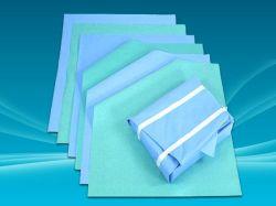 Médicos desechables, Plaza de la autoclave de esterilización con papel crepé de colores diferentes