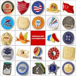 Revers Abzeichen Etiketten Großhandel Kostenlose Muster Design Custom Logo Metall Abzeichen harte Emaille Stifte für Souvenir