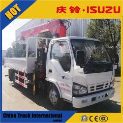 Npr 600p 4*2 120HP van Isuzu Vrachtwagen Opgezette Kraan
