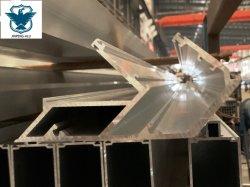 Grande perfil de alumínio para vidro da unidade da Parede Lateral