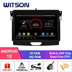 """Witson 9"""" com sistema Android Tela 10 aluguer de DVD do sistema de navegação para a Ford Ranger 2016"""