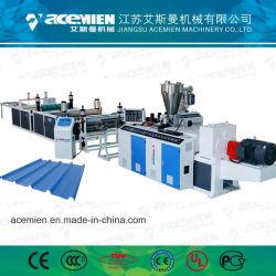 Telha de papelão ondulado de PVC máquina de fazer a linha de extrusão