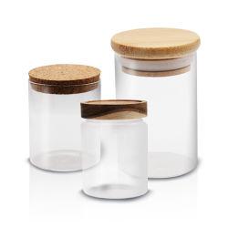記憶のびん及び瓶の台所食糧タケふたが付いている新しい保存の鍋のびんの瓶キャンデーのビスケットのパスタの記憶の気密のガラス瓶