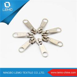 Nº 3 nº 5 de aleación de zinc metal Zipper ningún candado control deslizante para el bolso