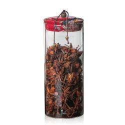 Frascos de armazenamento de vidro hermeticamente o recipiente de alimentos com tampa