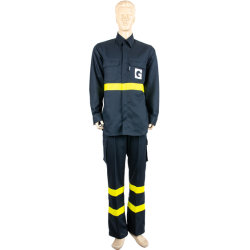 Hi Dansteel A/S 100%хлопок Breathabel Рабочая одежда Anti-Static защитные огнестойкие работу кофта с желтым Fr светоотражающей пленки