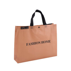 Mode d'amende Brown PP non tissé Sac shopping fourre-tout à l'emballage