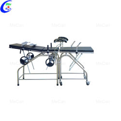 Equipamento hospitalar a tabela de distribuição de aço inoxidável, Ginecologia Obstetrícia Cama de Entrega