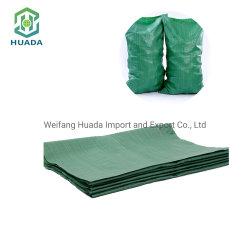 低の卸売は緑PPによって編まれた薄板にされた包装袋をリサイクルした