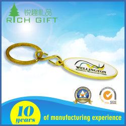 Jolie décoration couleur or en laiton métalliques personnalisées Les chaînes de clés pour les voitures à prix compétitif