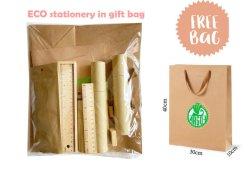Переработанных канцелярские наборы в крафт-бумаги подарков для офиса и школы и использовать
