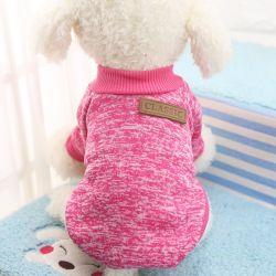 O inverno quente cão de estimação cachorro roupa Casaco Jaqueta Soft Suéter Cão