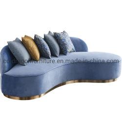 Гостиная закрывается золото из нержавеющей стали на основе бархатной творческих диван, ткань для отдыхающих диван деревянные рамы для домашней мебели
