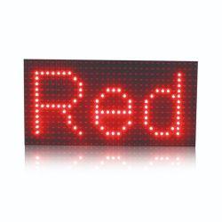 Для использования вне помещений одного красного цвета P10 светодиодный модуль дисплея