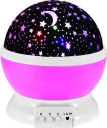 Gira de LED cielo lunar proyector de estrellas novedad juguetes lámpara de noche