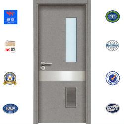 유리 (HD-JY-012)를 가진 나무로 되는 문을 설계하는 현대 디자인 화재 물 HPL 문