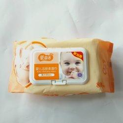Rótulo personalizado impresso tecido de bambu descartáveis orgânica biodegradável toalhetes de Bebé mão toalhas molhadas água pura mão toalhas molhadas