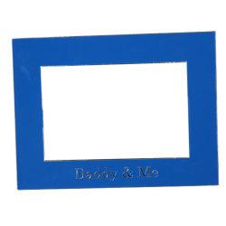 Einfacher blauer Foto-Rahmen mit Vati und mir