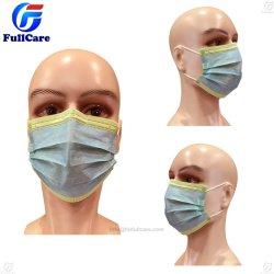 Médico cirujano del Hospital Quirúrgico de la seguridad de protección de N95 boca Nonwoven Examen Dental 3capas de polvo de los alimentos a los niños de papel Mascarilla desechable con Earloop igualan en