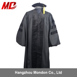 A vestimenta acadêmicos de graduação Doutorado Deluxe preto bata
