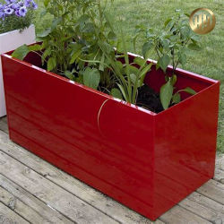 新しいカラーの優雅な園芸植物の立場の植木鉢