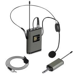 De professionele Microfoons van de Microfoon van de Hoofdtelefoon van het Oor van de Microfoon Lavalier Enige Draagbare Draadloze voor het Samenkomen van Leraren