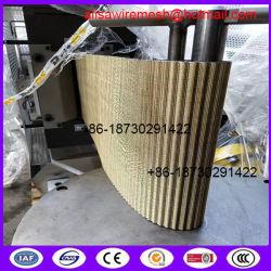 フィルムの吹くラインのための120の網308mm X80m 120の網銅の覆われた鋼鉄連続的なフィルターベルトスクリーン