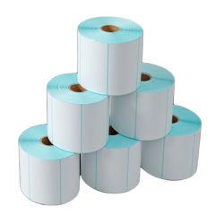 Fabricant étiquette vierge thermique adhésif autocollant Rouleau de papier pour imprimante de code à barres