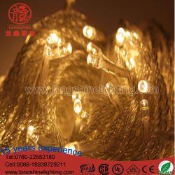 Resistente al agua LED LED de 10m/100estuche de PVC de la luz de la cadena de Navidad Decoración de interiores al aire libre