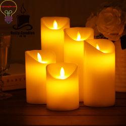 Luminosa LED LED Velas Velas luminosas con control remoto de la llama de la simulación de Giro de cabeza de proceso de Velas LED Vela de plástico