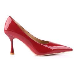 De nieuwe Schoenen van de Vrouwen van de Hiel van de Pompen van de Teen van de Aankomst Manier Gerichte Rode Hoge