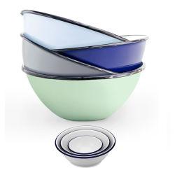 カスタム多彩な花型の円形の記憶サラダカバーが付いている無光沢のエナメルの金属の鉄の陶磁器皿洗浄の混合指犬ボール