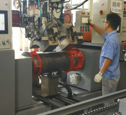 Cilindro de gas GLP Circunferencia automática Máquina de soldadura