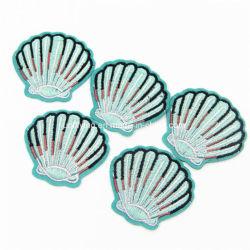 Fer à repasser sur de gros de shell personnalisés brodés de correctifs pour la promotion de cadeaux