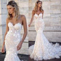 فساتين زفاف بلا طبل لاس الزهور عروس العروس زنك Z2086