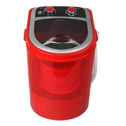 ウェーブホイールが付いている家のための半自動小さい洗濯機
