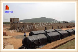 Carvão de queima de gás natural de tijolos de barro Hoffman Kiln