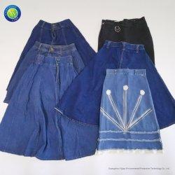 Utiliza las mujeres faldas damas falda de Denim para el verano, ropa usada