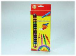 16 PCS Jumbo Crayon com cores vivas