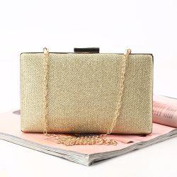 Partie brillante soirée de femmes sac personnalisé Mesdames Glitter sac à main d'embrayage pour Mariage cadre métallique d'embrayage sac à main en métal avec attache