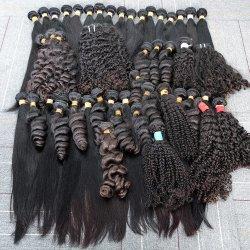La migliore Remy cuticola di trama brasiliana naturale all'ingrosso di a buon mercato 100% ha allineato l'estensione grezza non trattata del tessuto dei capelli umani del Virgin