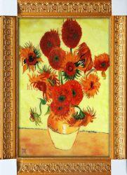 Smalto Cloisonne dell'olio di girasoli del Van Gogh che vernicia il regalo domestico luminoso di arte della parete della decorazione