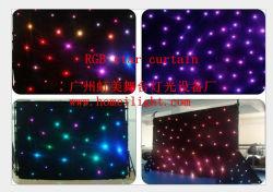2*3m Fase Pano Tricolor resplandecente estrela da luz de Cortina de LED RGB com controlador DMX