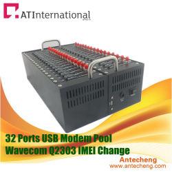 Module industrielle Wavecom Q2303 32 ports IMEI modifiable pool de modems