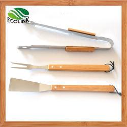 Bamboo Handle를 가진 BBQ Tools Set/Barbecue Tool Set
