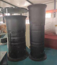 На верхнем этаже дымовой трубы вытяжные вентиляторы прямой привод вентилятора для животноводческих зданий