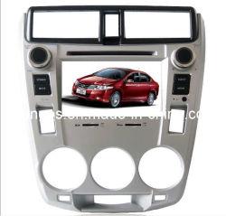 Double DIN 7 pouces écran tactile numérique avec lecteur de DVD de voiture GPS pour Honda City avec Hebtew, double zone