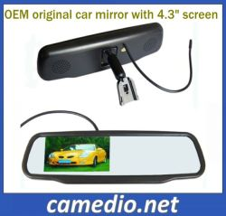 """4.3 """" Originele Car Rearview Mirror LCD met OEM Bracket voor Different Cars"""