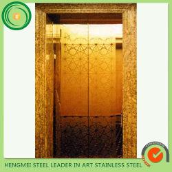 [8ك] مرآة يحفر [ستينلسّ ستيل] لوح زخرفيّة لأنّ مصعد باب
