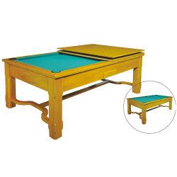 Elegante 2 en 1 Piscina Billar y mesa de comedor, bajo precio especial de madera maciza de gran calidad.